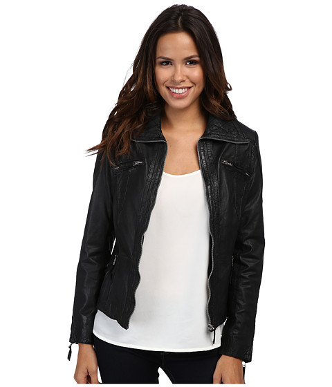 Scully - Your Favorite Oh So Soft Leather Jacket (Black) Women's Coat