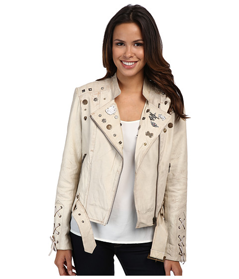 Scully - Lane Funky Chic Moto Jacket (Sand) Women