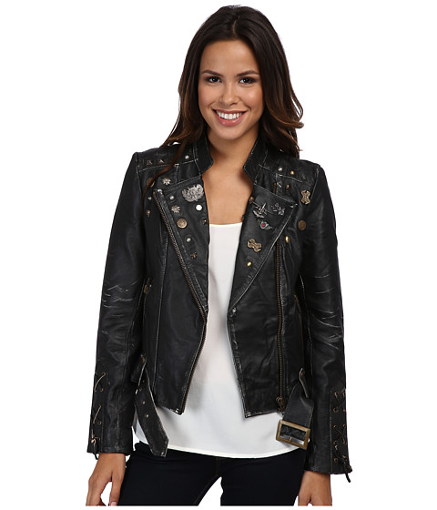 Scully - Lane Funky Chic Moto Jacket (Charcoal) Women