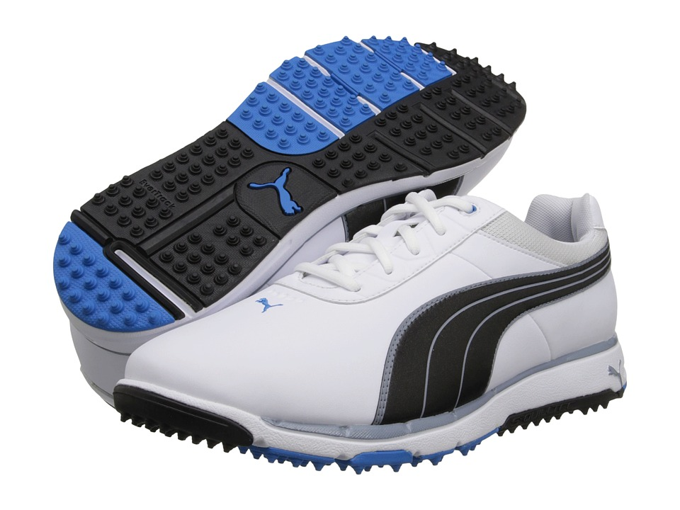 PUMA Golf - FAAS Grip 2.0 (White/Black/Blue Aster) Men's Golf Shoes