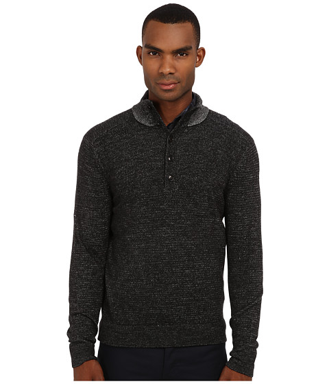 Theory - Byron JP Cashwool (Black) Men's Sweater