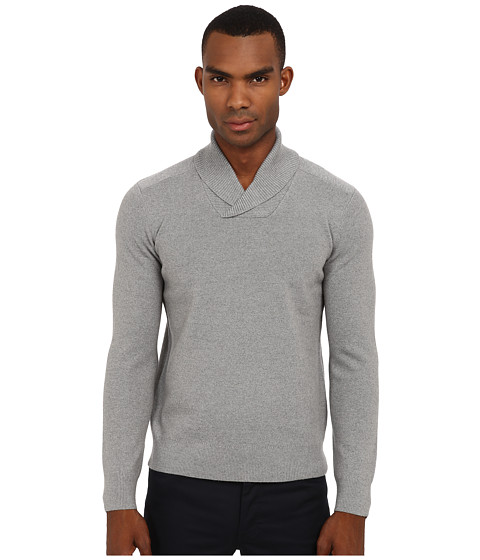 Theory - Reece MS Cashwool (Grey Melange) Men's Sweater