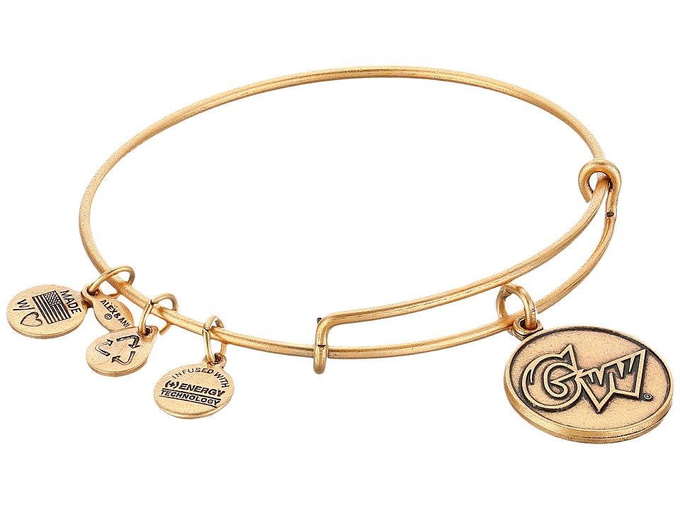 Alex and Ani - George Washington University Logo Charm Bangle (Rafelian Gold Finish) Bracelet