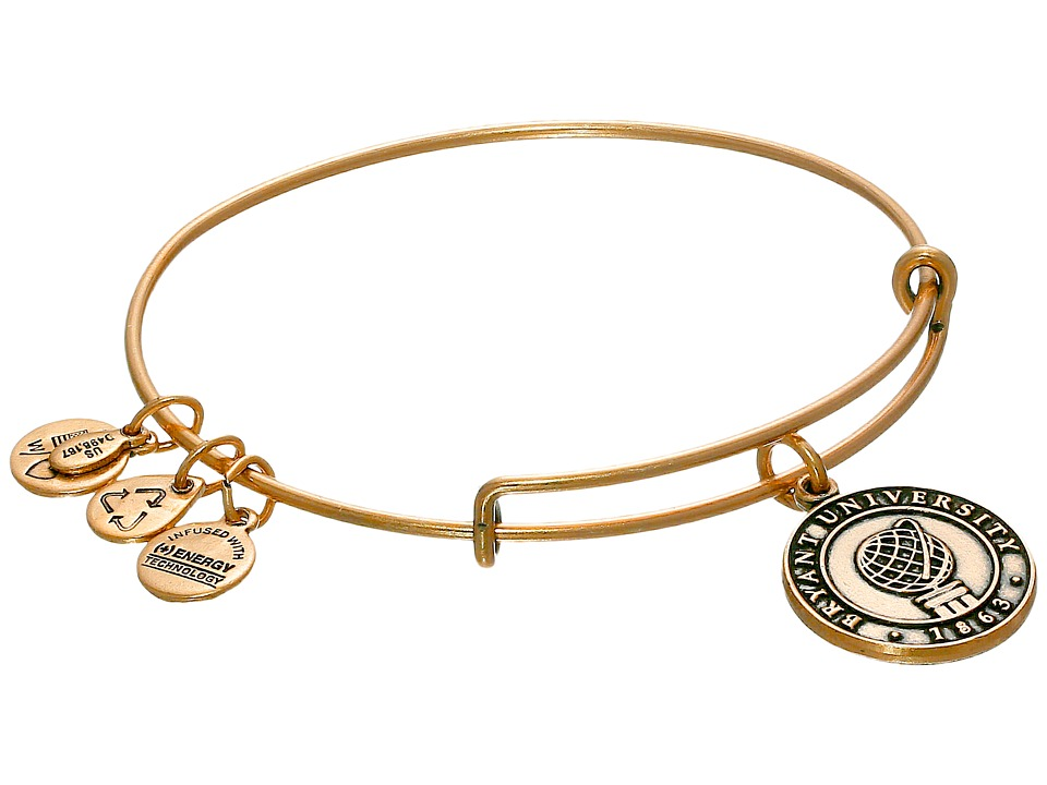 Alex and Ani - Bryant University Logo Charm Bangle (Rafelian Gold Finish) Bracelet