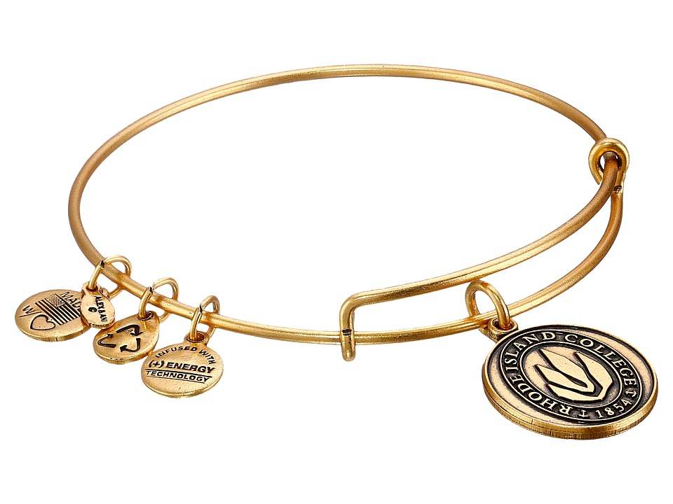 Alex and Ani - Rhode Island College Logo Charm Bangle (Rafelian Gold Finish) Bracelet