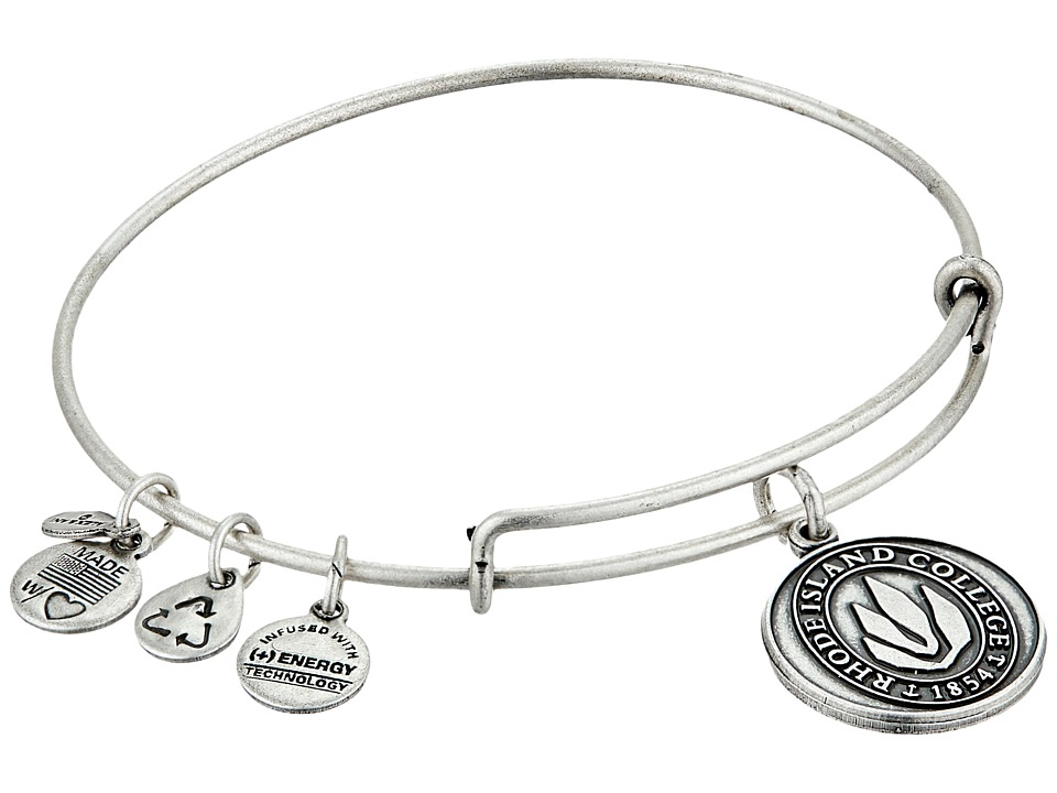 Alex and Ani - Rhode Island College Logo Charm Bangle (Rafaelian Silver Finish) Bracelet