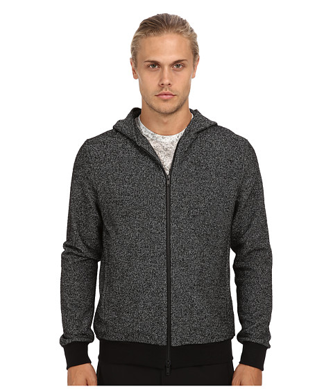 Theory - Orson H Marble Terry (Black Multi) Men's Sweatshirt