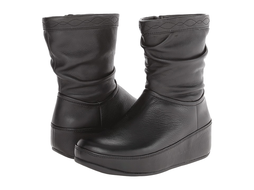 FitFlop - Zip Up Crush Boot (Black) Women