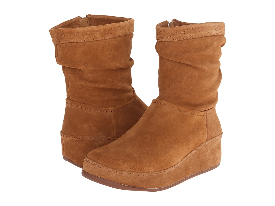 FitFlop Zip Up Crush Boot (Tan) Women
