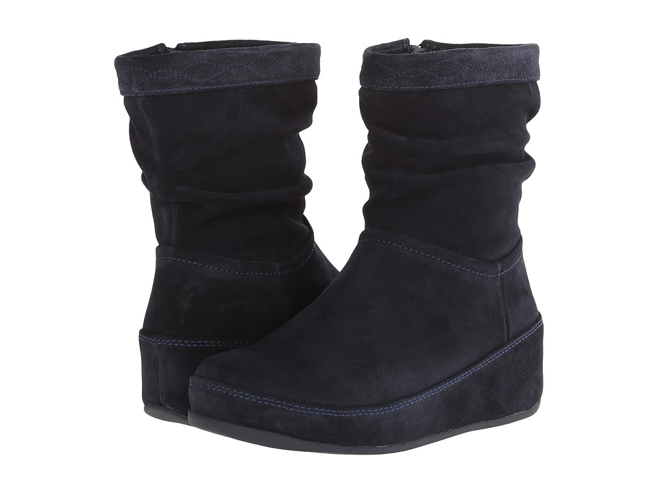 FitFlop Zip Up Crush Boot (Supernavy) Women