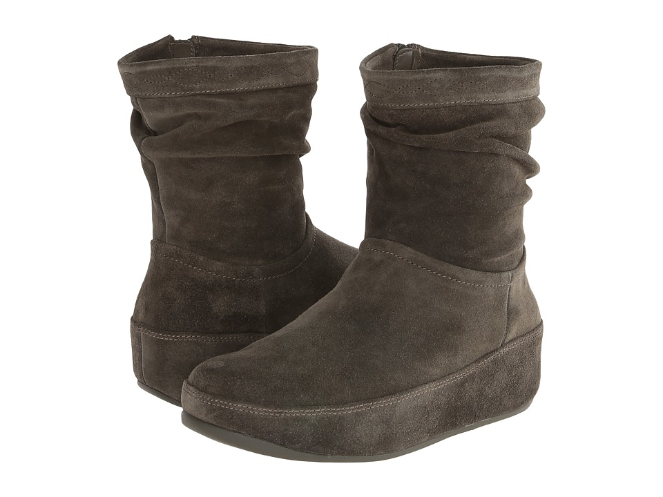FitFlop Zip Up Crush Boot (Everglades) Women