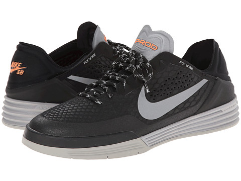 Nike SB - Paul Rodriguez 8 Shield (Black/Medium Grey/Hyper Crimson/Reflect Silver) Men's Skate Shoes