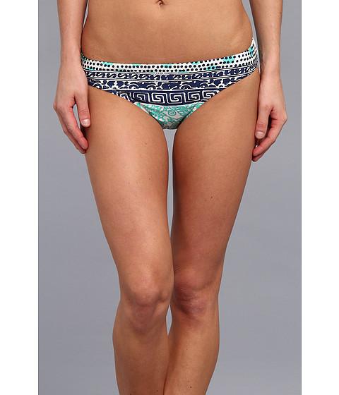 Nanette Lepore - Batiki Print Charmer Bikini Bottom (Aqua 2) Women's Swimwear