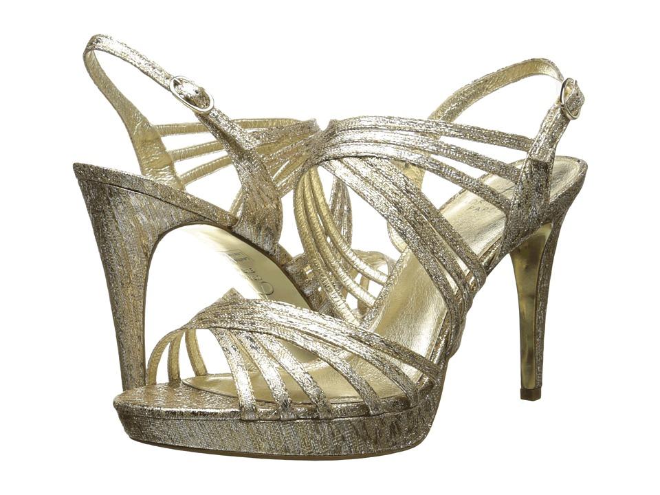 Adrianna Papell Aiden (Platino Foil Sleek) High Heels