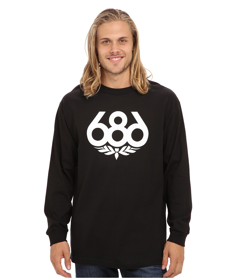 686 - Wreath L/S T-Shirt (Black) Men's Long Sleeve Pullover