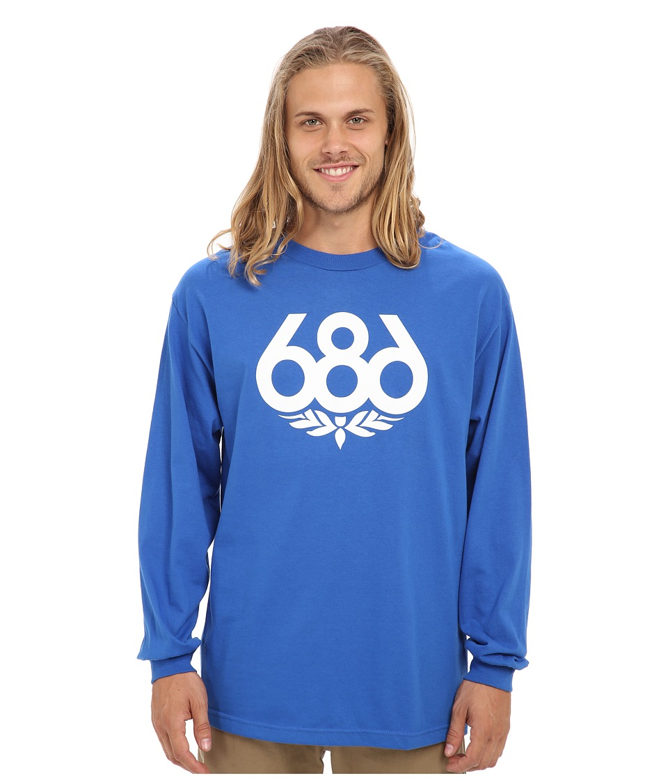 686 - Wreath L/S T-Shirt (Royal) Men's Long Sleeve Pullover
