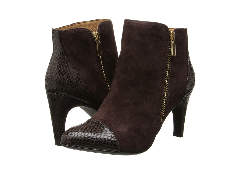 Sofft - Pavan (Coffee/Dark Brown King Suede/Snake Print) High Heels