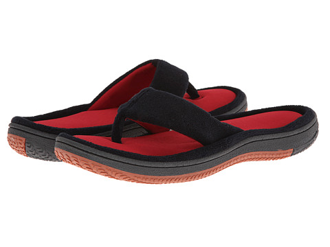 ISOTONER Signature - Jeremy (Black/Red) Men's Slippers
