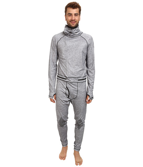 686 - Airhole Thermal One Piece (Grey Heather) Men's Snow Bibs One Piece