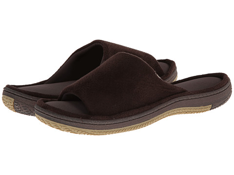 ISOTONER Signature - Geoffrey (Brown) Men's Slippers