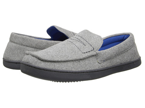 ISOTONER Signature - George (Grey/Royal) Men's Slippers