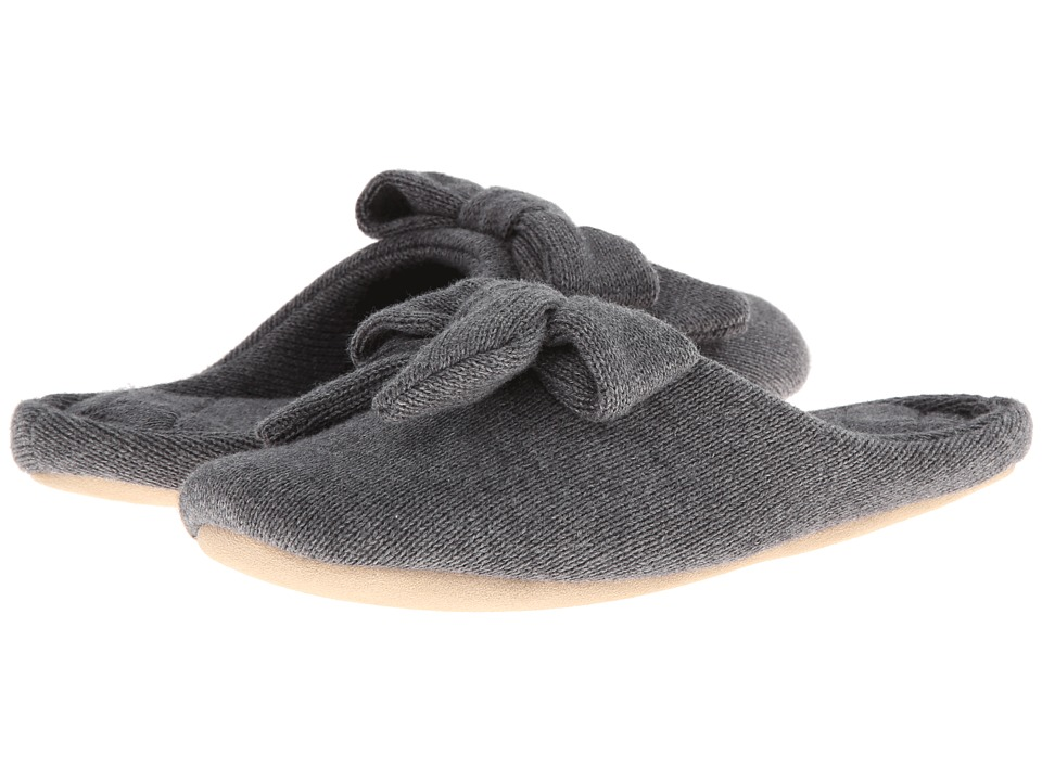ISOTONER Signature - Cashmere Aria (Dark Charcoal Heather) Women's Slippers