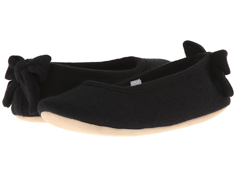 ISOTONER Signature - Cashmere Bow Ballerina (Black) Women's Slippers