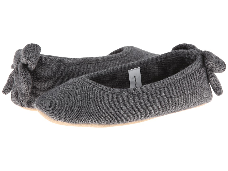 ISOTONER Signature - Cashmere Bow Ballerina (Dark Charcoal Heather) Women's Slippers