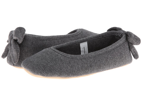 ISOTONER Signature - Cashmere Bow Ballerina (Dark Charcoal Heather) Women