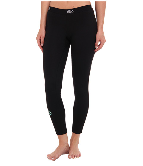 686 - Thermal Base Full Length Bottom (Black) Women's Casual Pants
