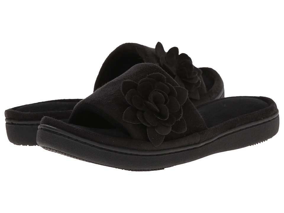 ISOTONER Signature - Ellen (Black) Women's Slippers