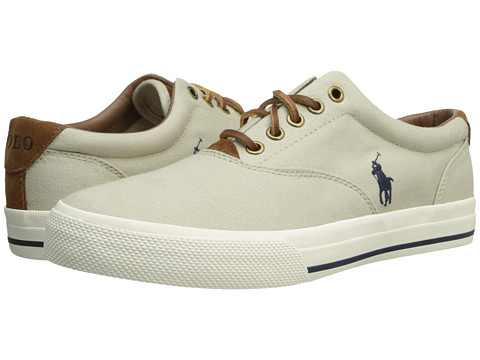 Polo Ralph Lauren - Vaughn (Classic Stone Canvas/Sport Suede) Men