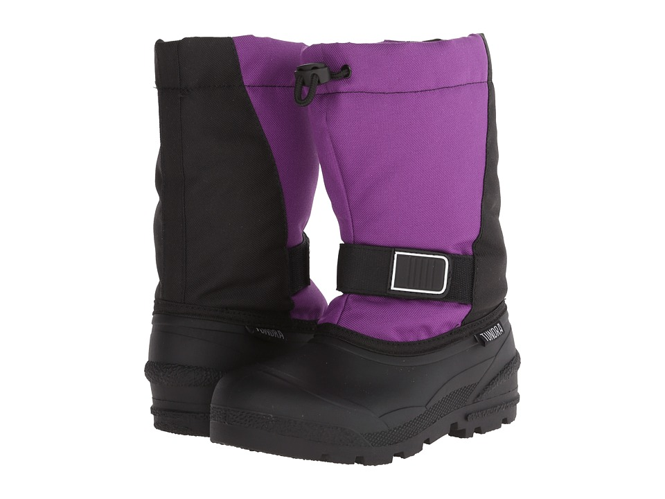 Tundra Boots Kids - Idaho 5 (Little Kid/Big Kid) (Black/Purple) Girls Shoes