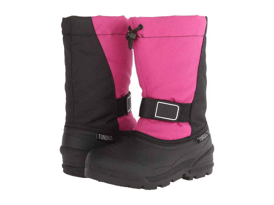 Tundra Boots Kids - Idaho 5 (Little Kid/Big Kid) (Black/Fuchsia) Girls Shoes