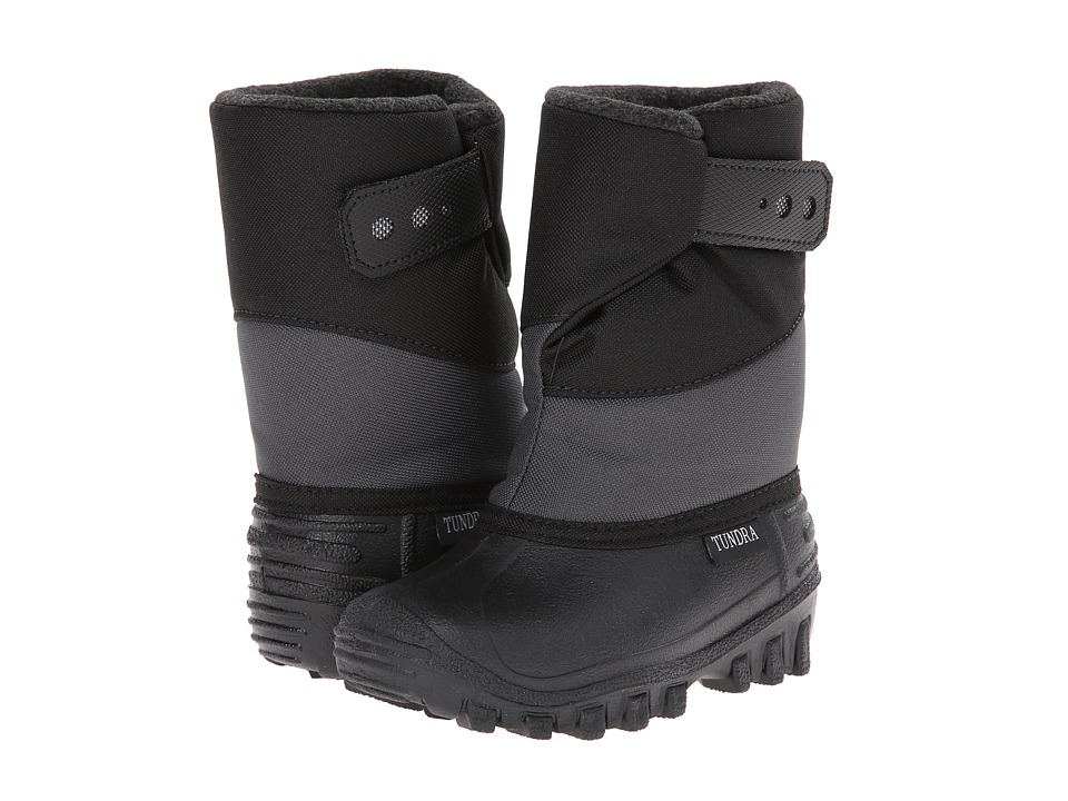 Tundra Boots Kids - Pueblo (Toddler/Little Kid) (Black/Charcoal) Boys Shoes