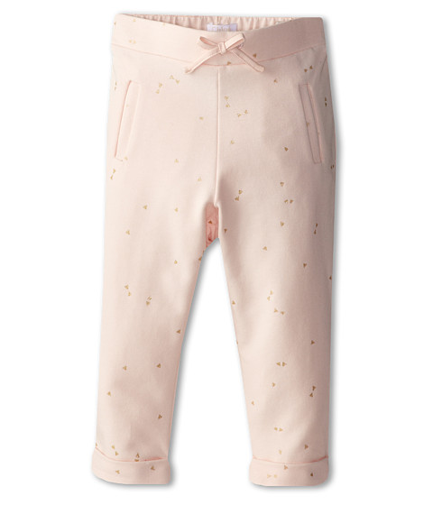 Chloe Kids - Mini Bow Print Fleece Pant (Infant) (Magnolia) Girl's Casual Pants