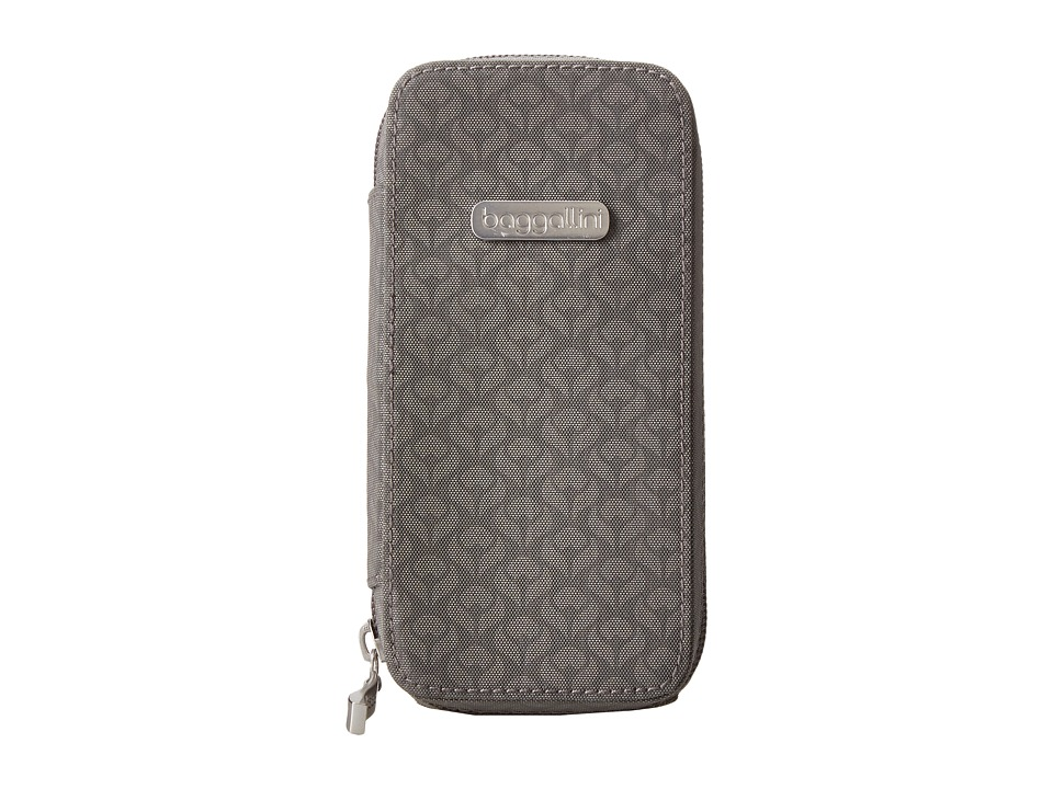 Baggallini - Brooklyn Eyeglass Case (Blossom Embossed Pewter) Wallet