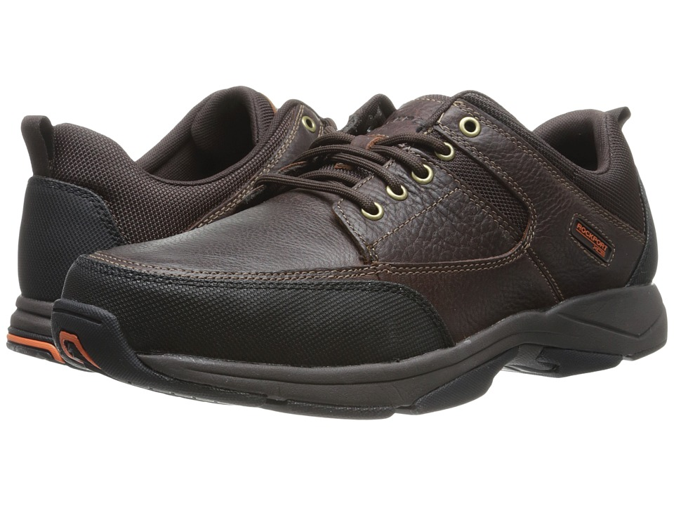 Rockport - Moc Front - Mudguard Oxford (Dark Brown Tumbled) Men's Lace up casual Shoes