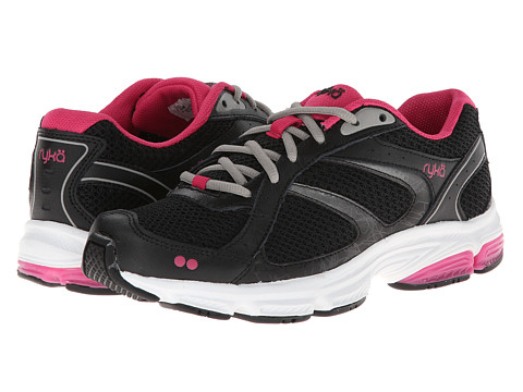 Ryka - Tandem SMR (Black/Silver Cloud/Zuma Pink) Women's Running Shoes