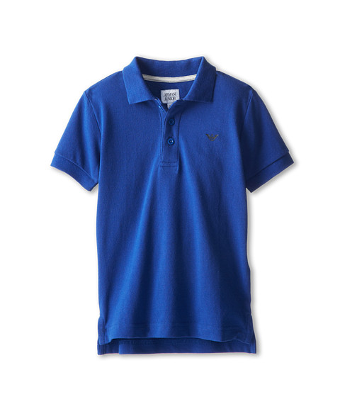 Armani Junior - Short Sleeve Polo (Toddler/Little Kids/Big Kids) (Blue) Boy's Short Sleeve Pullover