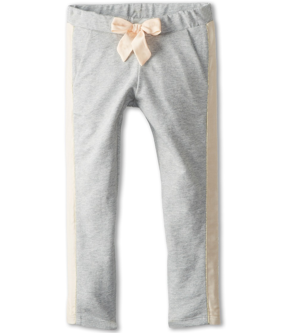 Chloe Kids - Fleece Trousers With Satin Side Panel (Toddler/Little Kids) (Grey Chine) Girl's Casual Pants