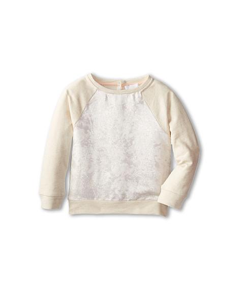 Chloe Kids - Jacquard Front Fabric And Fleece Raglan Sweatshrit (Toddler/Little Kids) (Petit Beurr) Girl's Sweatshirt