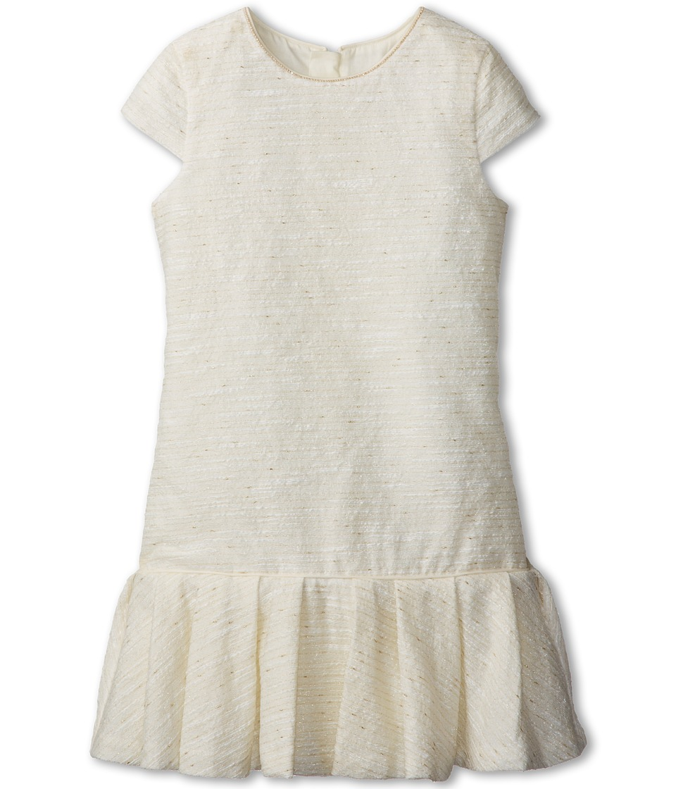 Chloe Kids - Lurex Fabricated Dress Inspired From Womens (Little Kids/Big Kids) (Off White) Girl's Dress