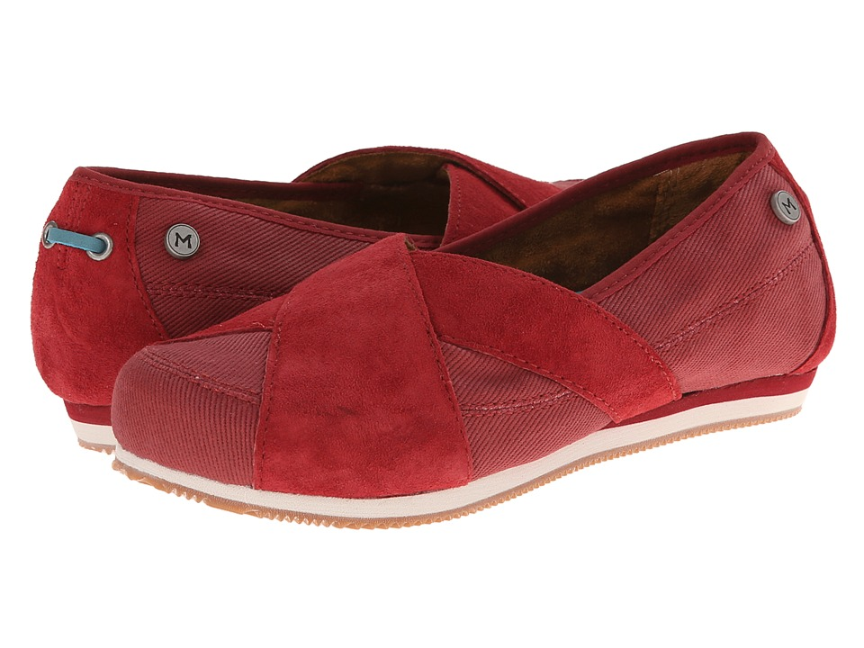 MOZO - Sport - Suede/Canvas (Red) Women's Shoes