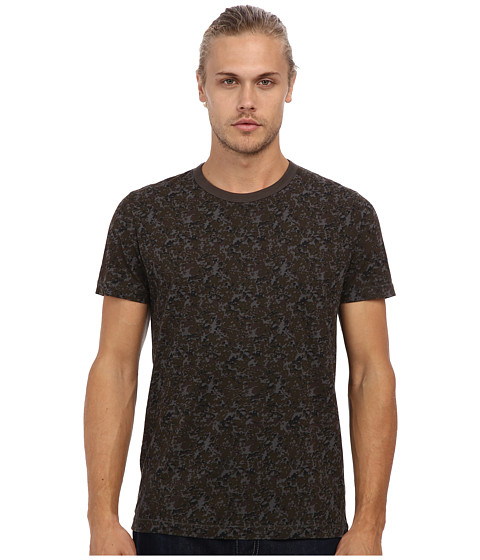 French Connection - Hang Fire Camouflage Tee (Black Ink) Men
