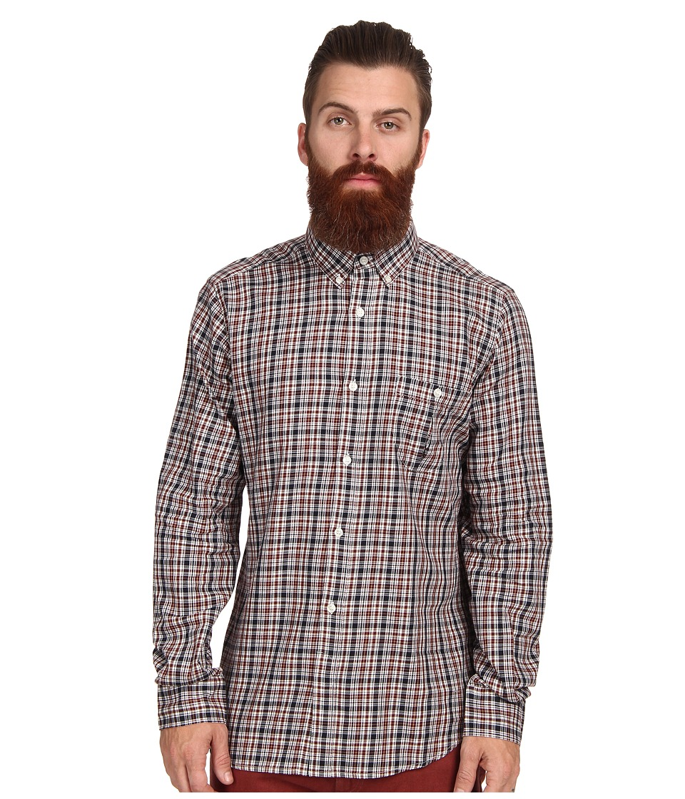 French Connection - Lifeline Checked L/S Shirt (Multi Check) Men's Long Sleeve Button Up