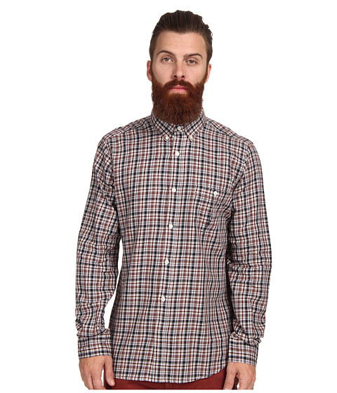 French Connection - Lifeline Checked L/S Shirt (Multi Check) Men