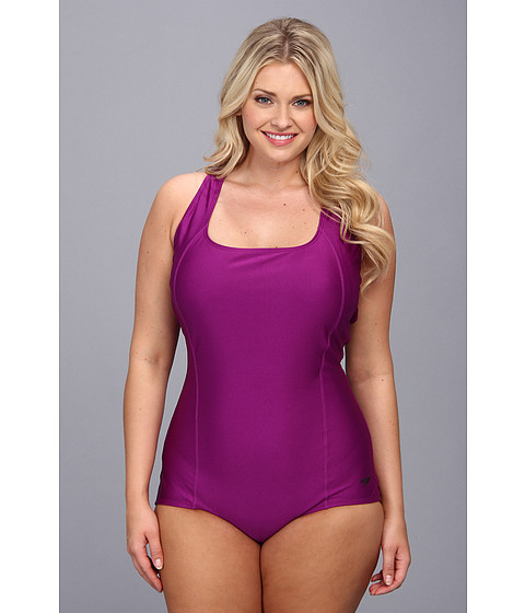 55aa0d891a ... UPC 786096530224 product image for Speedo Plus Size Conservative  Ultraback One Piece (Vivid Violet) ...
