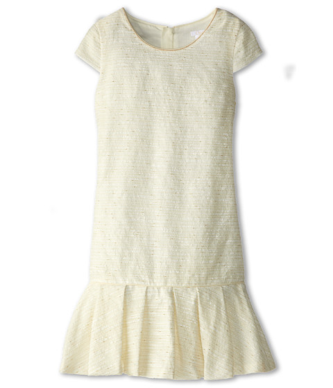 Chloe Kids - Lurex Fabricated Dress Inspired From Womens (Big Kids) (Off White) Girl's Dress