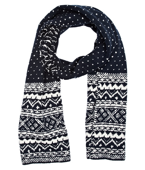 French Connection - Evan Fairisle (Marine Blue/Cuba White) Scarves